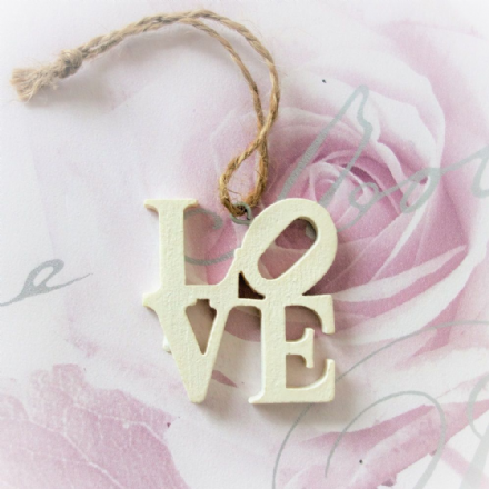 Little LOVE Laser Cut Hanging Decoration